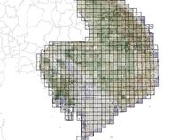 Regional Mosaic of Vietnam War Era Topographic Maps