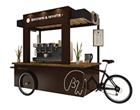 B&w cafe cart