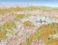 Nepal: Soviet Military Topographic Mosaic 1:200,000