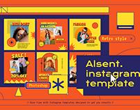 Alsent Instagram Template