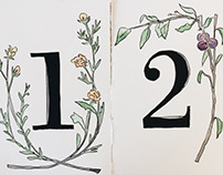 Handpainted Wedding Table Numbers