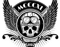 biker shirt logo | Illustration
