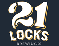 21 Locks Brewing Co. Branding & Merchadise