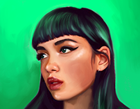 Green portrait