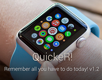 QuickeR! Reminder v1.2 iOS and Apple Watch app