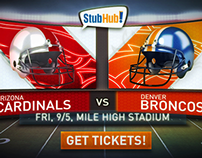 Eyeview Digital - StubHub! NFL Tickets Redesign