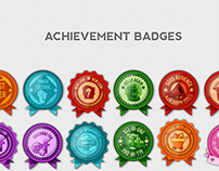 Achievement Badges & Flags 2D Illustrations