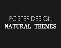 Natural Themes Flat Poster Design