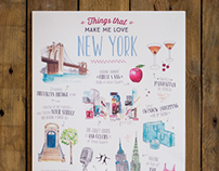Things that make me love New York - Travel Illustration