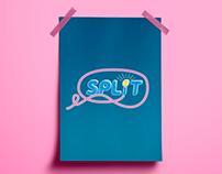 SPLIT comedy - Logo Design Research