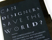 Can designers save the world?