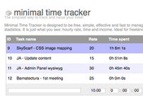 Minimal Time Tracker