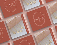 Sunset Jewellery Branding