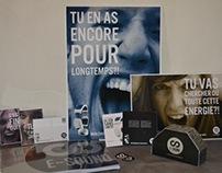 E-SOUND, casque audio auto-rechargeable, produit fictif