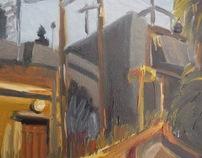 'Urban landscape' oil on linen 31 x 75