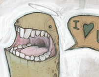 Monster Love art print series