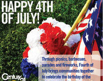 Century 21 M&M and Associates 4th of July Postcard