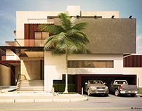 Modern Villa Daylight Visualisation