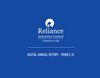 RIL - Digital Annual Report - Mobile UI/UX