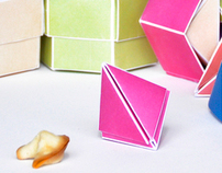 Fortune Cookie origami package