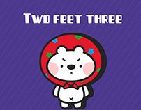 二尺三mascot design