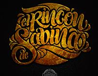 """Lettering """"El Rincón de Sabina"""""""