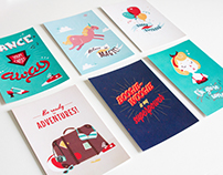 Vintage-inspired postcards