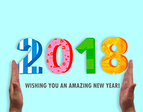 Happy New Year 2018 - animated