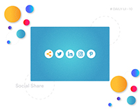 #Daily UI-10 #Social Share