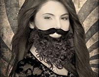 "Fotomontaje en photoshop - ""Mujer Barbuda"""