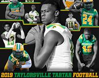 2019 Taylorsville Tartar Football Schedule Poster