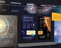 Cosmic Calendar Exhibition Design (Process)