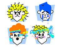 Mood Faces Animated Stickers Pack