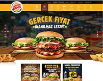Burger King UI UX design, İnterface desig