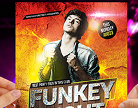 Funky Night Party Flyer Free Psd Template Download