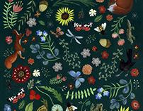 Garden endpapers