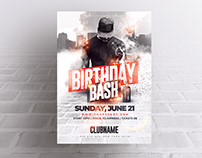 Urban Birthday Bash - Photoshop Flyer Template