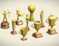 Low poly trophy pack