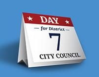 City Council Poster: Desktop Day Calendar