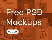 Free PSD Mockups vol. 21