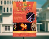 Werbeplakat und Truckfolierung - Zirkus Zikara