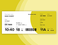 Boarding pass design | WDI Start
