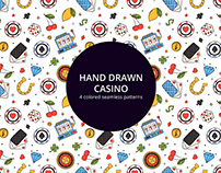 Hand Drawn Casino Vector Seamless Pattern
