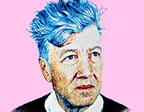David Lynch Portrait By Ross Clements