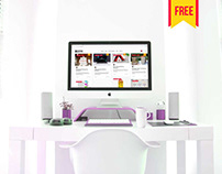 (Free) Imac Mockup PSD Free Download