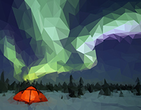 Northern Lights // Low Poly