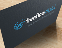 Freeflow Digital: Logo & Business Cards