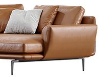 3d Furniture Modeling / Get Back Sofa by Poltrona Frau