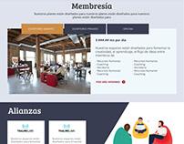 Vorticer co-working :: propuestas / website (x3)