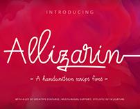 Allizarin Script Handwritten Font